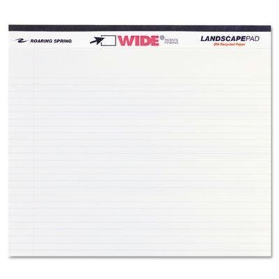 Roaring Spring - 8 Pack - Landscape Format Writing Pad College Ruled 11 X 9-1/2 White 40 Sheets Product Category: Paper & Printable Media/Notebooks & Writing Pads by Original Equipment Manufacture by Original Equipment Manufacture