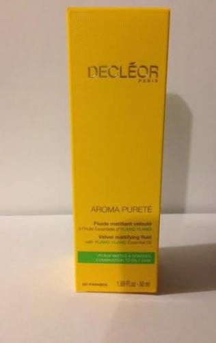 Decleor Aroma Purete Velvet Mattifying Fluid w/ Ylang oil 1.69oz (50ml)Brand New (Oil Purete)