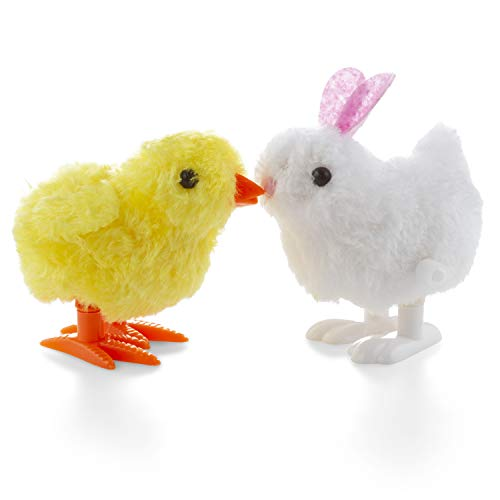 - FAVONIR Wind-Up Easter Jumping Chicken and Bunnies - Pack of 2 - Party Favor Kids Novelty Toy - Novelty and Basket Stuffers