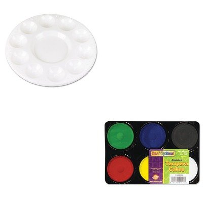 KITCKC5924CKC9833 - Value Kit - Chenille Kraft Round Plastic Paint Trays for Classroom (CKC5924) and Creativity Street Tempera Cakes (CKC9833) by Chenille Kraft