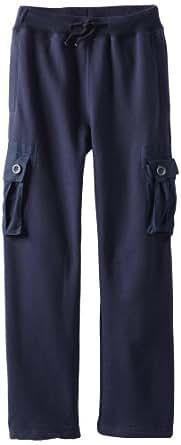 Wes & Willy Big Boys' Athletic Cargo Pant, Patriot Navy, Medium