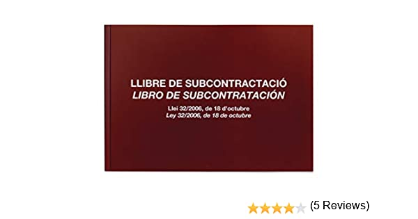 Miquelrius Libro de Subcontratación # 89 castellano: Amazon.es: Electrónica