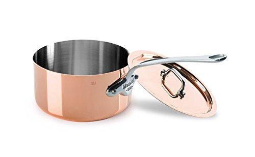 Mauviel Copper Saucier - M'Heritage Saucepan with Lid Volume: 1.2 qt.