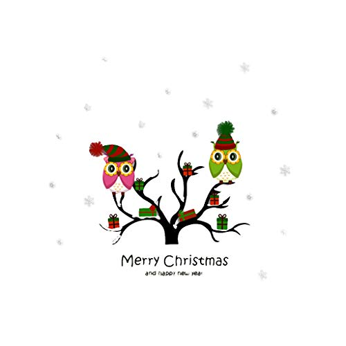 Iusun Merry Christmas Owl Tree Cartoon Animal Wall Stickers DIY Mobile Creative -