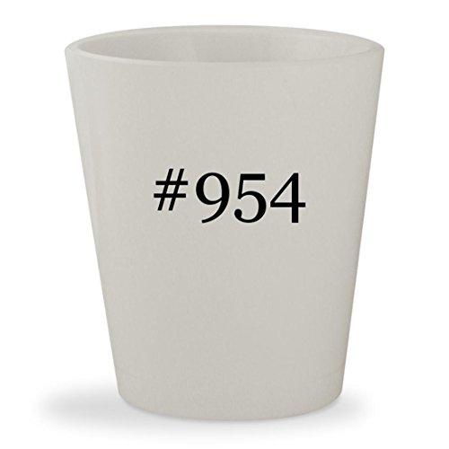 #954 - White Hashtag Ceramic 1.5oz Shot - Rb 2140 954