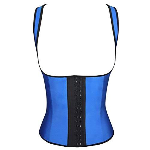 stay real Latex Waist Trainer Corset Shapewear Waist Cincher Belt Body Shaper Plus Size (Blue,Large)