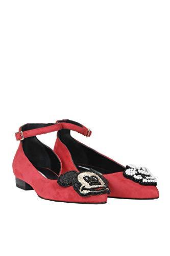 Bailarinas Gamuza Ezgl230001 Mujer Moa Rojo FqBOwfF7I