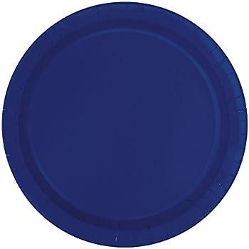 navy blue paper plates 16ct kitchen dining. Black Bedroom Furniture Sets. Home Design Ideas