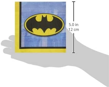501386 Made from Paper by Amscan TradeMart Inc 16 Pieces Batman Birthday Party Beverage Napkins Tableware