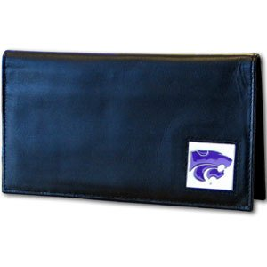 Siskiyou NCAA Kansas State Wildcats Leather Checkbook Cover - Kansas State University Leather