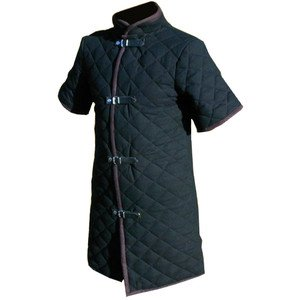 厚みのある黒色のバイキングギャンブソン 中世のパッド入り襟 半袖 半袖 アーマー アーマー B07HY2Y933, アートスポーツのアイケーミラー:a41ac35b --- capela.dominiotemporario.com