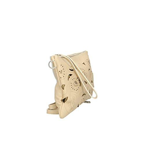 Italie cuir 29x18x2 Borse véritable à Clutch Petit en Sac Beige en main fabriqué Cm Femme Chicca 8O7xq7