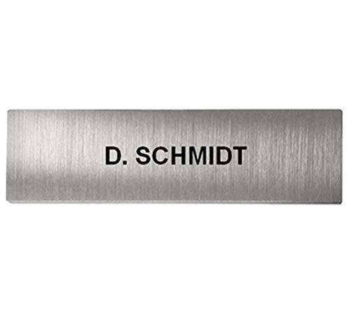 DoorBird Nameplate for D21x One Call Button Video Door Station Stainless Steel Salt Water Resistant - Engraved - Metal -