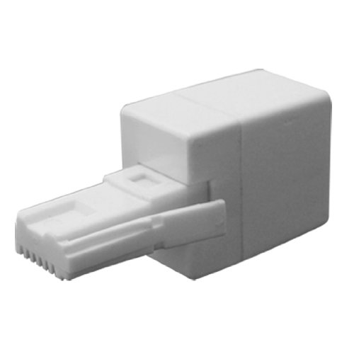 Uxcell RJ11 Socket to UK BT Telephone Plug Adapter and Converter, 2 Pices for Landline Telephone ()
