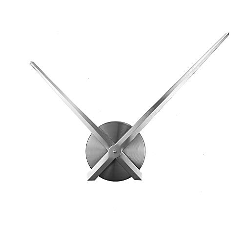 ufengke Metal Needles Silent Quartz Clocks 3D DIY Silver Large Wall Clock for Living Room Bedrooms Kitchen Lounge 24