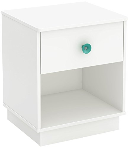 South Shore Little Monsters 1-Drawer Night Stand, Pure White by South Shore