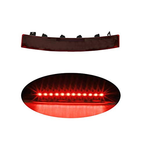 High Mount LED Third 3rd Brake Light, Rear Roof Center Mount Stop Tail Lamp for Ford 1999-2004 Mustang (Red)