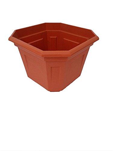 Sharma's No 2 Plastic Brown Tulsi Gardening Pot (12 Qty)