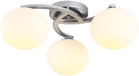 Lampade a soffitto zlr rotonda in vetro in ferro battuto moda