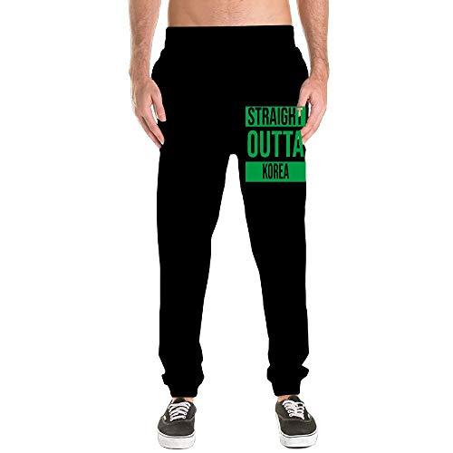 Nm45kL&KU Mens Slim Sweatpant, 100% Cotton Straight Outta Korea Jogger Pants