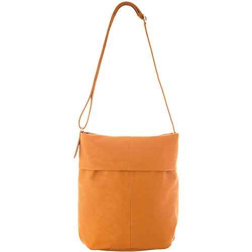 zwei Mademoiselle M14 - Bolso, 38 cm Curry (Naranja)