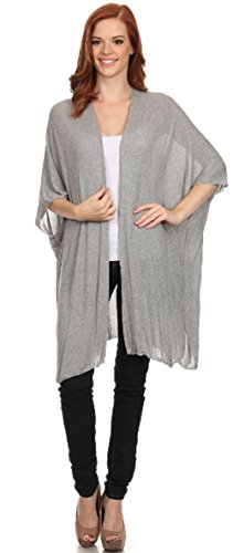 Young Contemporary Fashion Long Shrug Open Cardigan Duster Cover up