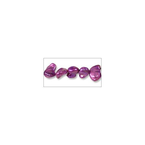 Freshwater Keishi Pearl Free-Form Dyed Fuchsia 5-6mm (16