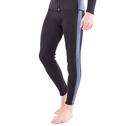 Flexel Wetsuit Pants 2MM Neoprene Men and Women's Surfing Leggings Swim Tights for Diving Snorkeling Kayaking Canoeing Trousers (2mm Pants Navy, - Length Full Mens Wetsuit