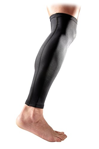 McDavid Pair Compression Calf Sleeves, Black, Medium