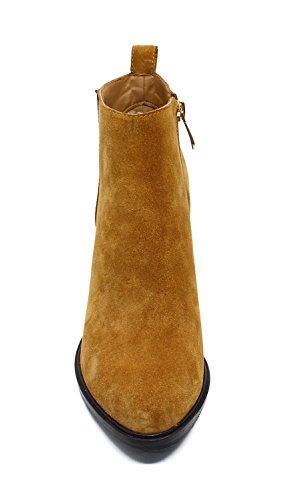 Guoar Donna Punta Chiusa Stivaletti Alti Tacchi Alti 8,5 Cm A-brown