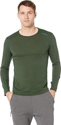 Brooks Men's Distance Long Sleeve Shirt Spruce Medium (Running Shirts Brooks)