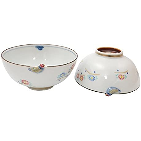 Kiyomizu Yaki Small Bird 4 9inch Rice Bowl Porcelain