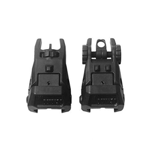 Imi Defense - IMI Defense TFS + TRS Tactical Polymer Front + Rear 2 Flip Up Sight Set Mil-Spec 1913 STANAG 4694 rail system (Picatinny)