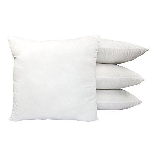 Cozy Bed Feather Pillow Insert (Set of 4) 18x18 White 4 Piece