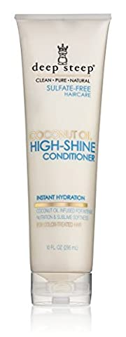 Deep Steep Coconut Oil High Shine Conditioner with Organic Coconut Oil, Sulfate Free, Vegan, Gluten Free, Non GMO, No Parabens or Chemical Preservatives, 100% Natural (Organics Coconut Conditioner)