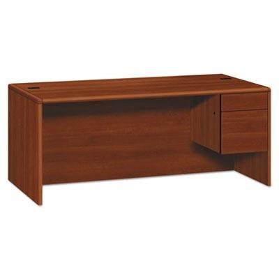 - HON 10785RCO 10700 Series Single 3/4 Right Pedestal Desk, 72w x 36d x 29 1/2h, Cognac