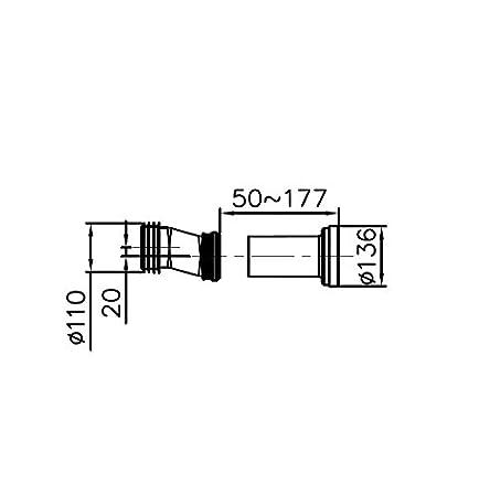 sanitaria M/ódulo para inodoro de pared Incluye placa del actuador