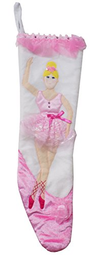 [Beautiful Ballerina Tulle Tutu and Rhinestone Costume Christmas Stocking - 21 Inches] (Holiday Recital Costumes)
