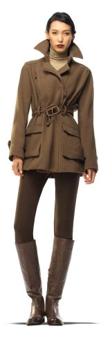 Max Studio Cavalry Twill Belted Jacket