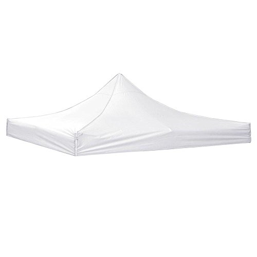 LeeMas Inc White 10x10ft EZ Waterproof UV Ray Resistant Outdoor Gazebo Canopy Tent Top for Events Wedding Parties Craft Shows Music Festivals