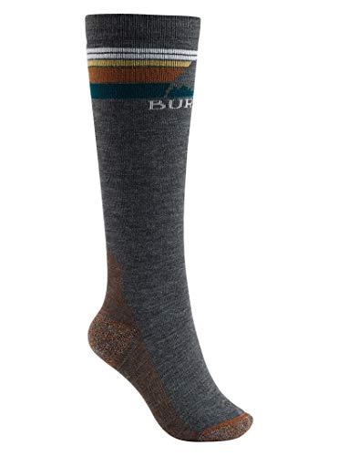 Burton Women's Emblem Midweight Sock, True Black, Small\\Medium
