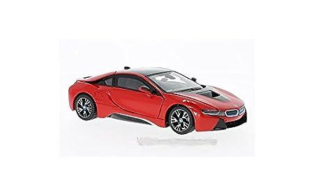 Modell 1 24 Bmw I8 Rot Rastar 56500 Amazon De Spielzeug