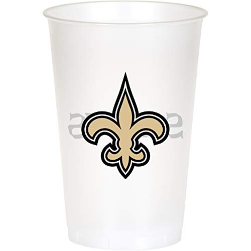 Creative Converting New Orleans Saints 20 oz. Plastic Cups, 24 ct ()