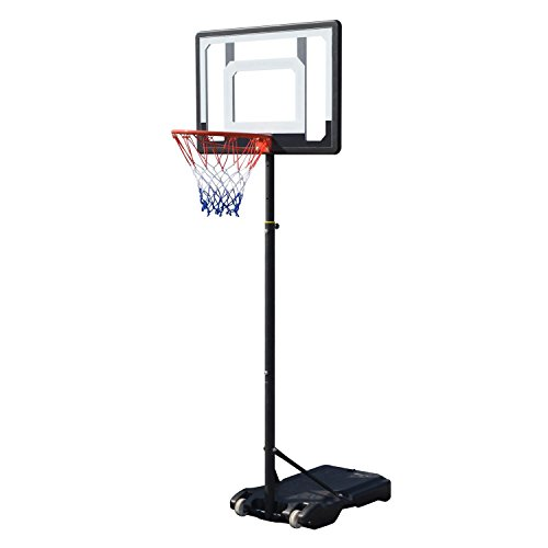 Telescoping Height Adjustable Mini Youth Height Portable Basketball System Hoop Backboard [US (Basketball Hoops Cheap)