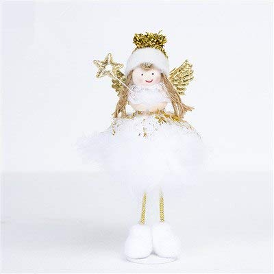 tsg global christmas angel doll toy christmas decorations for home xmas kids new year gifts table