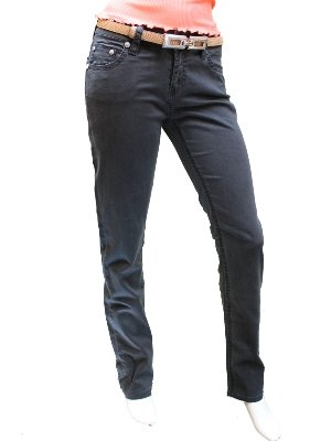 Antracite In Da Nero jeans Cut Stella Cotone Att Straight Donna Prelavate fv1qWUZPO1