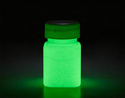 Glow in The Dark Paint Water Based Acrylic Materials -1 Ounce - 6 Colors (Green) ()