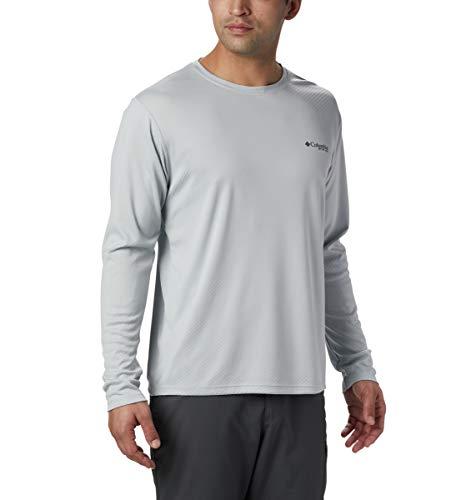 Columbia Mens Standard PFG Zero Rules LS Shirt, Cool Grey, Medium