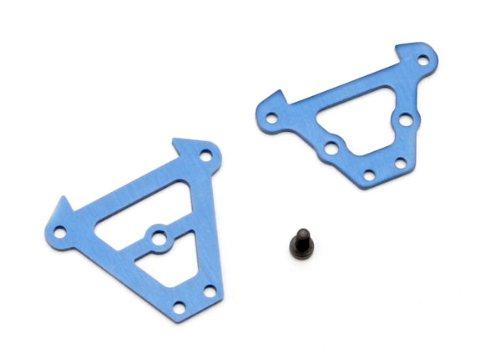 (Traxxas 7023 Blue-Anodized Aluminum Bulkhead Tie Bars, Front and Rear )