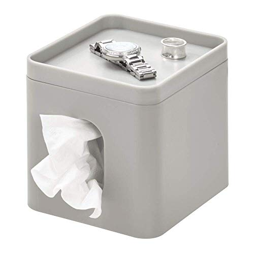 iDesign Caja para pañuelos, pequeña caja de almacenamiento en ...